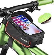 Borsa Bici Regalo Uomo con Supporto per Telefono, Borse Bici regalo festa del papà Impermeabili per Telaio Bor