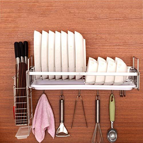 Kitchen furniture - Le support de cuisine accrochant de cuisine d'acier inoxydable met le pendant d'étagère de baguettes de plat de drain WXP (Couleur : Knife holder)