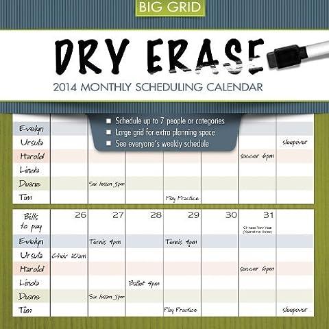 2014 Dry Erase Wall Calendar by TF Publishing (2013-06-13) - Dry Erase Calendario