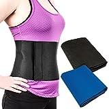 Proworks Neoprene Slimming Belt Sauna Body Wrap Waist Fat Burner - Black