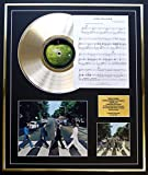 THE BEATLES/ CD GOLD DISC UND PHOTO UND SONG SHEET DISPLAY/LIMITIERTE AUFLAGE/COA/ALBUM ABBEY ROAD /SONG SHEET COME TOGETHER