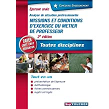Concours Enseignement - Analyse de situation professionnelle - Oral CAPES, CAPET, CAPLP, Agrégation