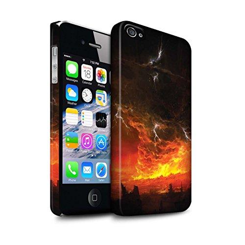 Offiziell Chris Cold Hülle / Matte Snap-On Case für Apple iPhone 4/4S / Schiffswrack Muster / Gefallene Erde Kollektion Apokalypse