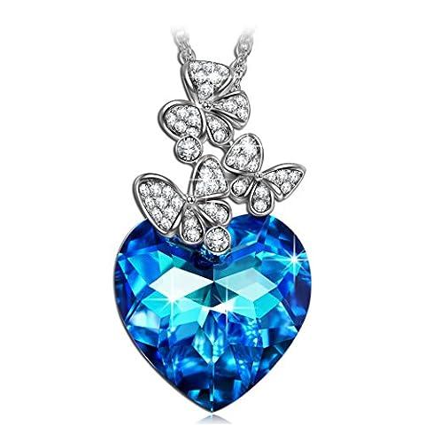 LADY COLOUR If the Heart Splendor Damen mit Blau Kristallen von Swarovski Blau Schmuck muttertagsgeschenke Weihnachtsgeschenke valentinstag geschenk geschenke fur frauen mutter