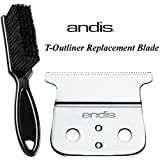 Andis Beauty Andis Replacement Hair Trimmer Blade (04521) with a BeauWis Blade Brush