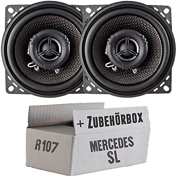 Ampire Cp100 10cm Lautsprecher 2 Wege Koaxialsystem Einbauset Für Mercedes Sl R107 Front Just Sound Best Choice For Caraudio Navigation