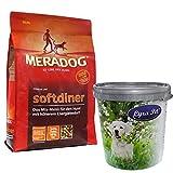 MERA Dog 12,5 kg Softdiner Premium Hundefutter für erwachsene Hunde+ Futtertonne
