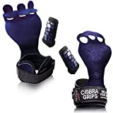 Cross Training Grips Gymnastics Grips Keep Your Hands Free from Blisters & Callouses Pullups We (Blue Nubuck Leather, Medium 4.25