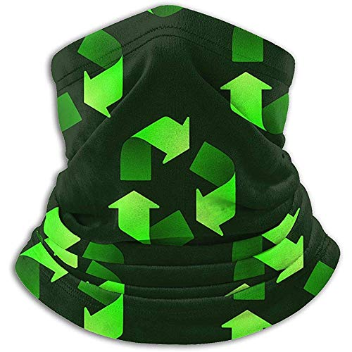air kong Halswärmer Gamasche Headwear Multifunktionale Kopftuch-Winddicht Ski Motorrad Maske Recycling Symbol Muster gedruckt