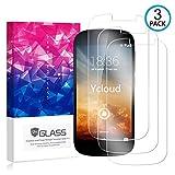 Ycloud [3 Pack] Protector de Pantalla para Yotaphone 2,[9H Dureza/0.3mm],[Alta Definicion] Cristal Vidrio Templado Protector para Yotaphone 2