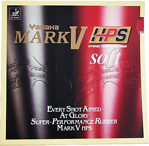Haarschere Yasaka Mark V HPS soft Tischtennis Gummi, schwarz (V Tischtennis-mark)