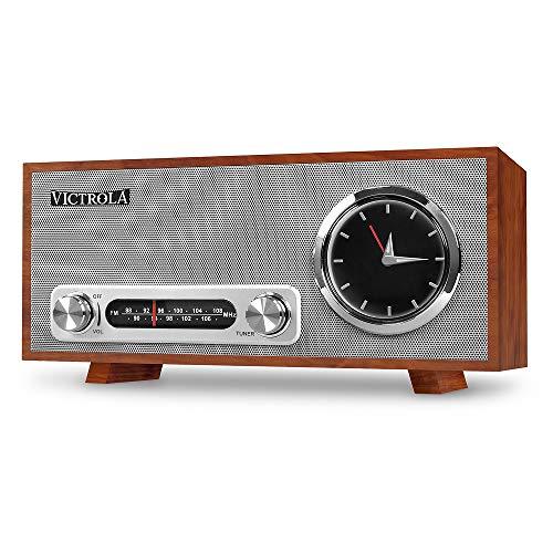 Victrola Broadway Bluetooth Orologio Analogico Stereo - Mogano