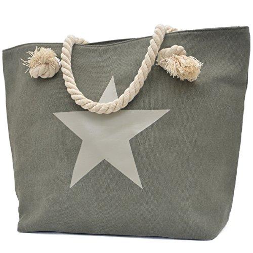 Vani Segreti Star Shopper Donna Borsa Borsette Marine Look Verde