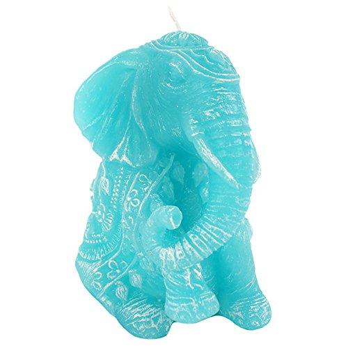 Gran novedad de la turquesa - afortunado azul elefante vela 12cm x 10cm