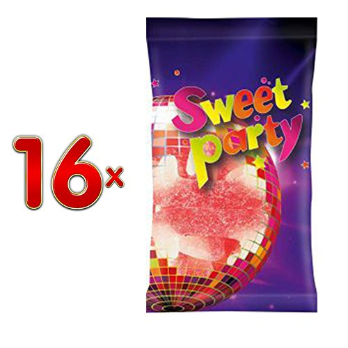 Sweet Party 13 Sour Draculatanden 16 x 70g Beutel (Saure Vampirzähne)