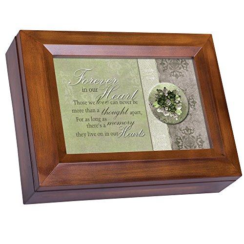 Kostüm Onkel Neffe Und - Cottage Garden Forever in Our Hearts Memory Holzmaserung Digital Andenken Musik Box spielt Ich kann nur Imagine