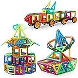 Wisdom Piezas magnéticas de bloques de construcción, juguetes para niños, Imán de los bloques huecos de 3-6 años de la muchacha Puzzle Boy ( Color : 195 Sets )