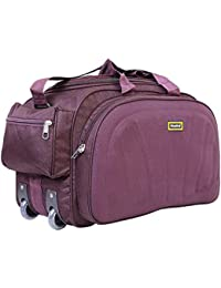 Nice Line Purple Polyester 40 litres Inch Travel Duffle Bag Trolley Bag Cabin  Luggage 8fb0cc98a426c
