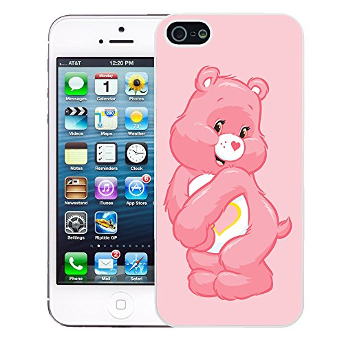 Image of Care Bear cartoon cover case for Apple iPhone 5 - 5S - T759 - Love A Lot - White