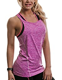 Golds Gym Damen Top mit Trägern mit Mergel-Muster