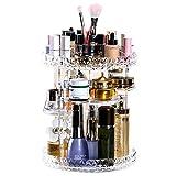 Organizzatore di Trucco, Espositore Cosmetico Girevole da 360 Gradi, Organizer per Vanità Regolabili Scaffale da Bagno Organizer Cosmetico, 8 Strati Trasparente Cristallino Contenitore Cosmetico