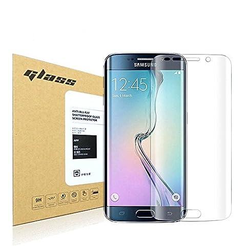 Samsung Galaxy S6 Edge Protecteur d'écran,HoPerain[couverture 3D] [verre trempé]9H dureté Protecteur d'écran,Anti Scratch,Anti-empreintes digitales