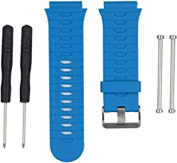 Voberry Soft Silicone Strap Replacet Watch Band + Lugs Adapters for Garmin Forerunner Fr 920Xt GPS Watch
