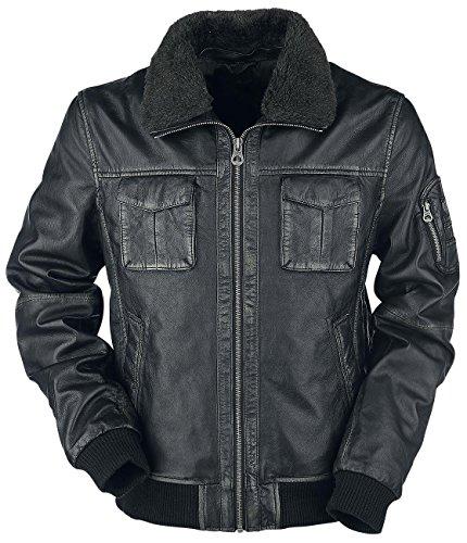Gipsy Maic Leder-Jacke schwarz S