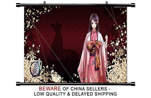 BestPlaceAnime Hana Oboro Sengoku den Ranki Anime Fabric Wall Scroll Poster (32x18) Inches
