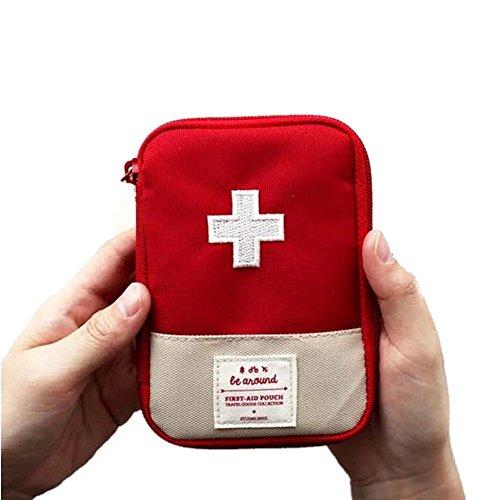 Mini Medical Bag Erste Hilfe Kit Drug Packing Bag Outdoor Reise Portable Red