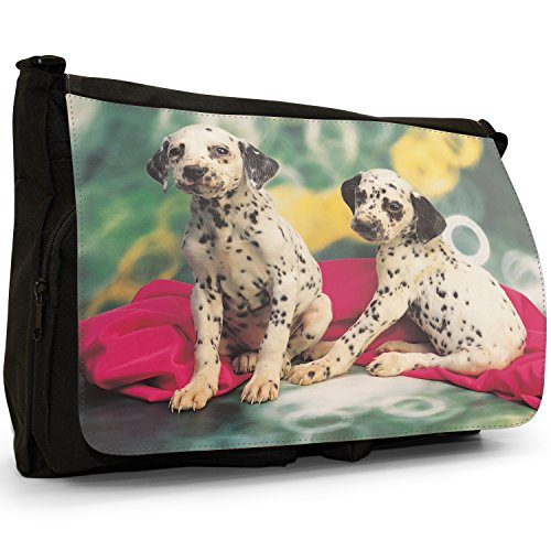 Fancy A Bag Borsa Messenger nero Dalmatian Puppies Dalmatian Puppies