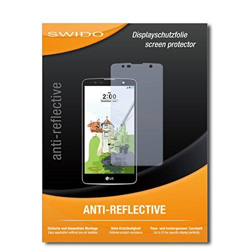 SWIDO Bildschirmschutzfolie für LG Stylus 2 Plus [3 Stück] Anti-Reflex MATT Entspiegelnd, Extrem Kratzfest, Schutz vor Kratzer/Bildschirmschutz, Schutzfolie, Panzerfolie
