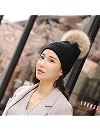 Lxj Mujer de Invierno Sombrero de Punto Caliente Espesa Sombrero de Super  Bola Bola línea Campana 1af09489347