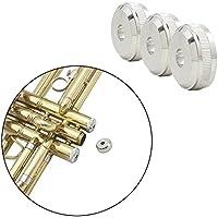 ammoon 3 Piezas Trompeta Clave Pistón Botón Tapa de Válvula Tornillo de Cobre Accesorios Parte