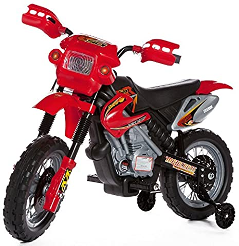 Ride on Kids Motocross Electric Scrambler Motorbike 6V Battery Operated Toy Bike Car in Red