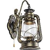 Wlxsx industrielle Wandlampe Der Amerikanischen Antiken Eisenkunst Betthauptwohnzimmerbalkon Antike Dekorative Wandlampe Des Innenhofs Nostalgie Im Freien