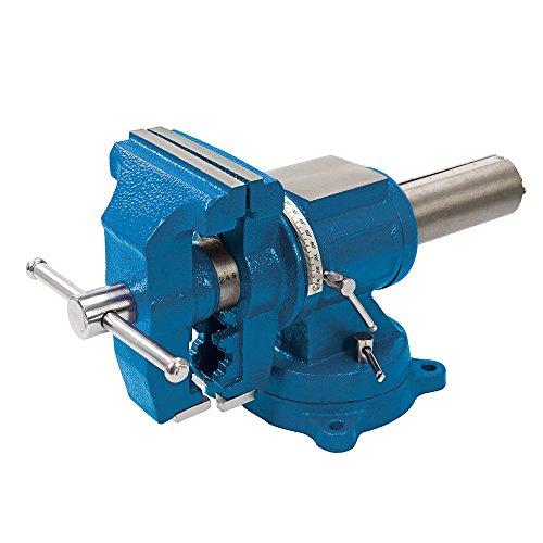 Silverline 979965 Tornillo de Banco multifunción, Azul, 125 mm