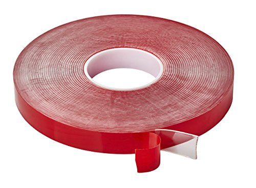 Cinta de acr/ílico adhesiva transparente transparente de doble cara resistente al calor de doble cara resistente a la humedad de doble cara de 25 m. Color:Transparrent /& Size:2mm