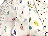 2pcs Extra Large 115cmx115cm Muslin Squares Cloths 100% Cotton BOY DESIGN baby bibs wipes