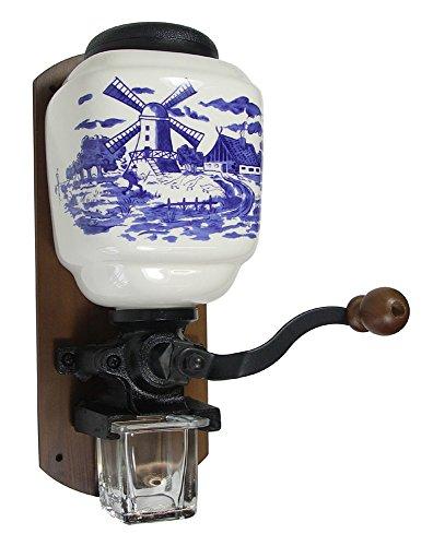 Wandkaffeemühle Nostalgie Deko Kaffeemühle Motiv Windmühle Antik-Stil (Antike Kaffeemühle)