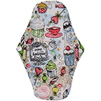 Bulary 5pcs Reutilizables Almohadillas sanitarias Lavables Estera Sanitaria Lavable paño Menstrual Almohadillas.