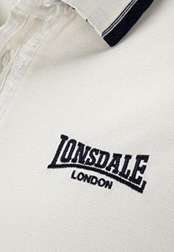 Lonsdale Poloshirt Slim Fit Uxbridge Écru