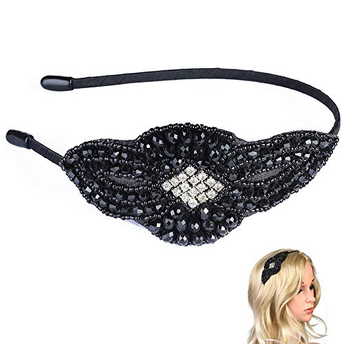 Beelittle 1920er Jahre Stirnband Vintage Strass Flapper Headpiece Crystal Haarschmuck für große Gatsby Kostüm Roaring 20er Jahre Party-Dress-up-Zubehör (D)