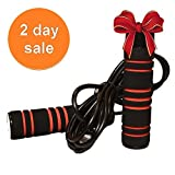 Pulse Crossfit 1 lb Weighted Jump Rope with Memory Foam Handles and weighted