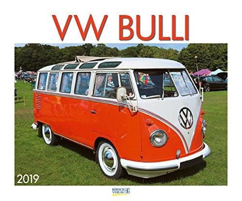VW Bulli 210319 2019: Großer Wandkalender. Foto-Kunstkalender über den Oldtimer Bus. Querformat 55 x 45,5 cm. Edles Foliendeckblatt.