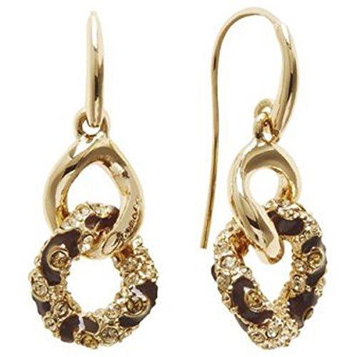 Guess-Orecchini pendenti in oro rodiato con zirconi taglio rotondo-ube21569