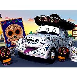 Das Skelett Auto (Dia de Los Muertos) / Mit Feuer spielen