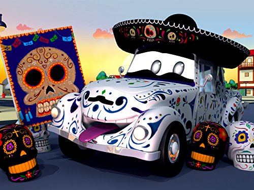 【Halloween ! 】Dia de Los Muertos Das Skelett Auto/Mit Feuer spielen