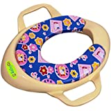 BabyGo Soft Cushion Potty Trainer Comfortable Seat with Support Handles (Ivory)