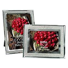 Idea Regalo - Umi. Essentials Cornici per Foto con Vetro Scintillante 20x25cm, 2 pezzi